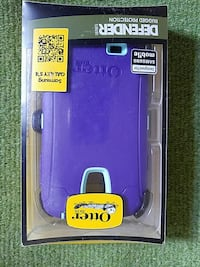 purple Otter smartphone case with pack
