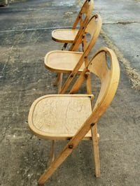3 Antique fold up chairs Springs, 15562