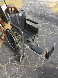 black wheelchair