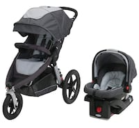 Graco Relay Click Connect Jogging Stroller and Car Seat Springfield, 97478