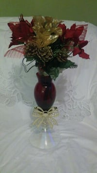 red and green artificial flower decor Providence