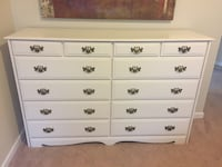 White Dresser - solid pine (painted) Lexington