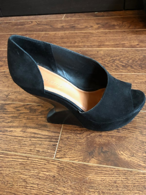 Anthropologie Black Platforms - Size 9, comes with shoe bag 0
