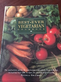 Large hard copy vegetarian cookbook.