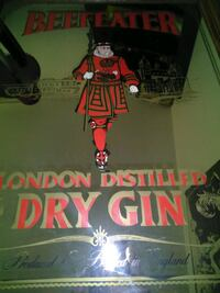 """BEEFEATER."".  DRY GIN. MIRROR"