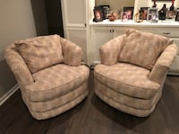 two gray fabric sofa chairs Elgin, 60124