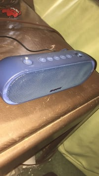 oval blue portable speaker