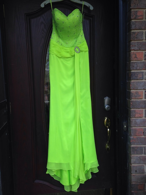 23f37369bc6358 Used New Size 2 Lime Green Mermaid Prom Formal gown.  75 for sale in  Gainesville - letgo