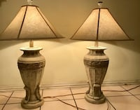 Two elegant sophisticated large table lamps  Terrytown, 70056