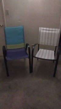 2 Like new patio chairs bought in may Phoenix, 85023