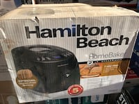 Hamilton Beach Breadmaker 12 cycles including jam and cake, 29882C Markham, L3S 1Y9