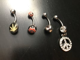Belly button rings.