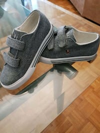 pair of gray polo toddler sneakers size 9 toddler Toronto, M9R
