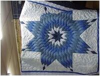 blue and white queen size star quilt CHAMBERLAIN