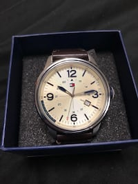 Tommy Hilfiger Brown-Strapped Watch.