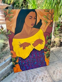 Diego Rivera painting canvas  Long Beach, 90806