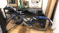 Vintage, blue raleigh cruiser bike package (w/ lights, helmet, & lock)