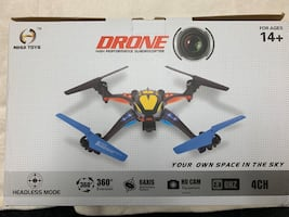 Drone with remote camera sd card batteries extra blades