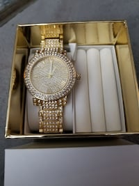 MICHAEL KORS GOLD PLATED WATCH NEW 100%