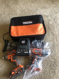 MUST GO!!!!! 18V RIDGID BRUSHLESS IMPACT AN BRUSHLESS DRILL/DRIVER WITH CHARGER & EXTRA BATTERY MUST GO!!!!!! $130 $130 $130 $130 $130 $130 $130 PRICE IS SLIGHTLY NEGOTIABLE  Lanham, 20706