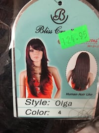 Brand new synthetic hair wig never opened  Edmonton, T6G 1K7
