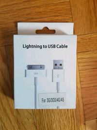 Lightning to USB Cable for Apple Calgary, T3J 3J7