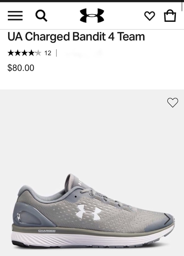 timeless design 4f44e c5c22 Under Armour men's sneakers UA Charged Bandit 4 Team ~size 8.5