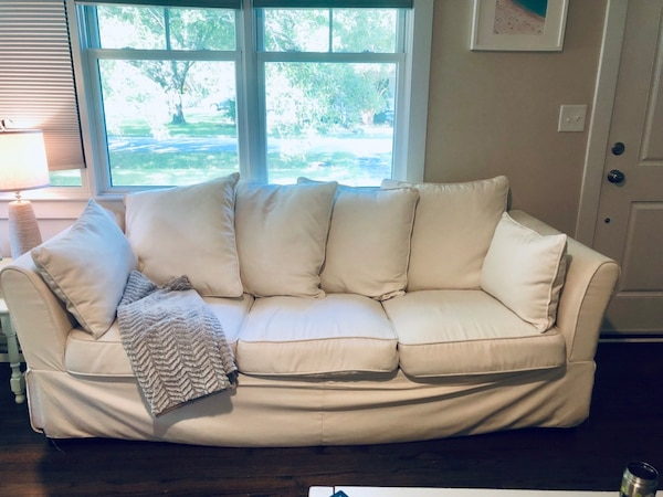 Groovy Used White Slip Covered Sofa From Wayfair For Sale In Uwap Interior Chair Design Uwaporg