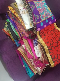 assorted color dupatta lot