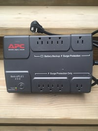 APC BE350R Battery Backup Surge Protector - 8 Outlet - Needs Battery