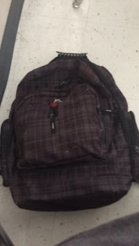 Brown checked backpack Edmonton, T5R