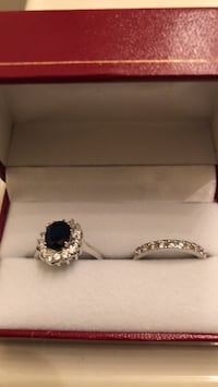 Silver and blue sapphire  ring Suitland, 20746