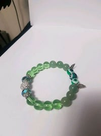 green owl themed beaded charmed bracelet Toronto, M1P 4S4