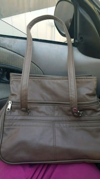 brown and gray leather tote bag Highland, 92346