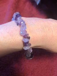 Purple and white beaded bracelet Asheville