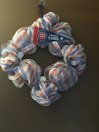 Red, white and blue diamond wreath with cubs pendant Machesney Park, 61115