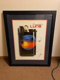 Vintage LUNA Lighter Poster