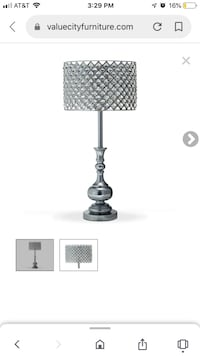 Glass aclylic table lamp