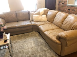 Genuine Leather Sectional Couch
