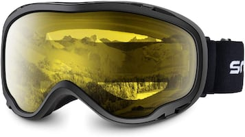 Adult Snow Goggles Lite Yellow Lens Adult Size Ski Board Skate NEW