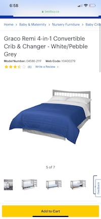 Selling brand new condition crib 4 in 1 Toronto, M1G 1R9
