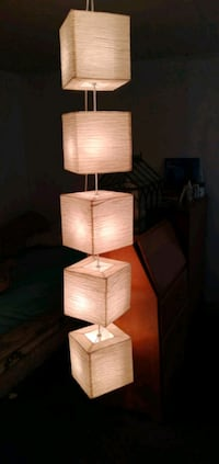 5 tear cubed hanging lights 1foot sqared