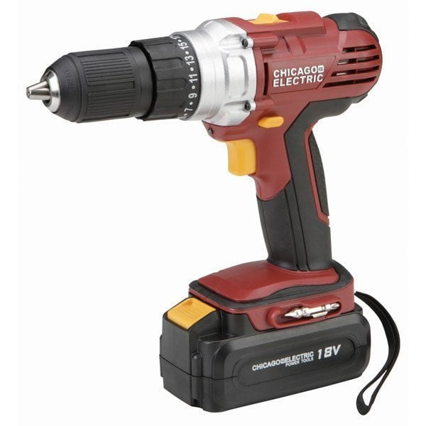 Chicago Electric 18 Volt 1/2 in. Cordless Drill & Charger