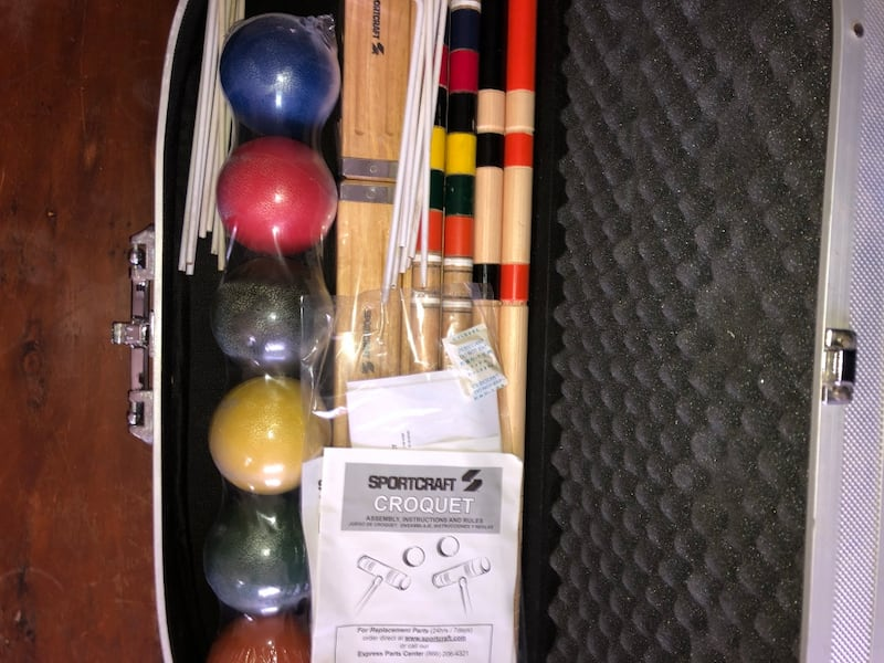 Sports Craft Croquet Set. 4