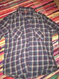 blue and red plaid button-up shirt 1154 mi