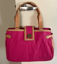Kate Spade Leather and Pink Nylon Tote HandBag Purse Chicago, 60611