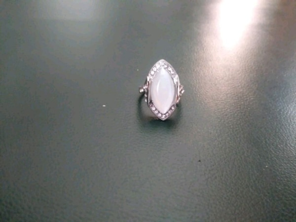 silver with opal ring