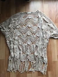 Crochet shawl or beach cover-up
