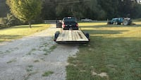 brown and black 16' car trailer, brand new tires a