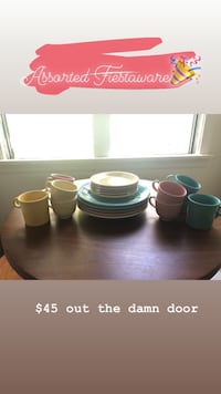 Set of assorted candy colored Fiestaware Los Angeles, 90036